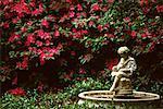 Water Fountain in Private Garden Savannah, Georgia