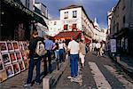 People Looking at Paintings Montmartre, Paris, France