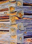 Angle de la construction en bois