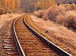 Train Track near Cranbrook British Columbia, Canada