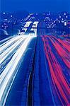Traffic at Night on Highway 401 Toronto, Ontario, Canada