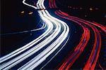 Traffic at Night, Don Valley Parkway, Toronto, Ontario, Canada