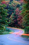Stries de feux arrière, Gatineau Parkway, parc de la Gatineau, Québec, Canada