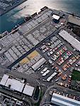 Vue aérienne du Port d'expédition
