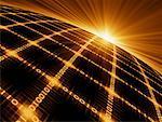 Sunrise Over Binary Code World