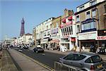 Scène de rue, Blackpool, Angleterre