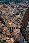 Sur les toits de Florence, Italie
