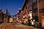 Rue à Noël Kitzbühel, Tyrol, Autriche