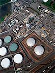 Vue d'ensemble du pétrole raffinerie Bayonne, New Jersey