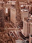 Antenne du Flatiron Building, New York City, New York, USA