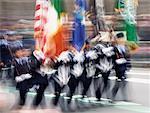 Demonstranten mit Flags St. Patricks Day Parade New York City, USA