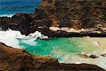 Beach on Southern Coast of Oahu, Hawaii, USA