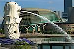Singapour Merlion fontaine