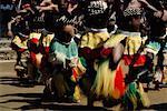 Traditionnelles danseurs Pretoria, Afrique du Sud