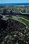 Aerial of Harbour Middle Harbour Sydney, Australia