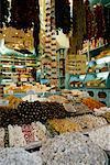 Affiche de nourriture au Grand Bazaar, Istanbul, Turquie