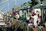 Waterfront Shopping Area Nantucket Harbour Nantucket, Massachusetts, USA