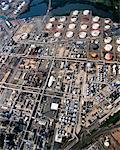 Raffinerie et réservoirs de stockage Bayonne, New Jersey, Etats-Unis