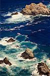 Water Splashing Against Rocks Big Sur Coastline California, USA