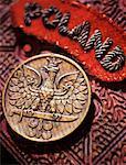 Medaille und Abzeichen auf Holz Schnitzerei