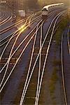 Commuter Train at Dusk
