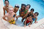 Portrait of Kids in Pool