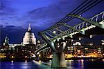 Millenium Bridge and Saint Paul's Cathedral London, England