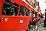 Row of Double Decker Bus London, England