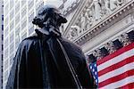 Bourse de New York et George Washington Statue New York City, New York