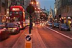 Scène de rue la Strand de Londres, Angleterre