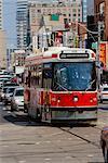 Tramway en circulation Toronto (Ontario) Canada