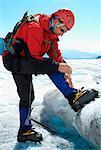Ice Climber Mendenhall Glacier Alaska, USA