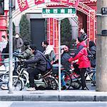 Gens qui vont au travail du Shanxi Road, Shanghai, Chine