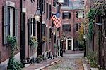 Acorn Street, Beacon Hill Boston, Massachusetts, USA