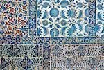 Turkey, Istanbul, the Blue Mosque, ceramic details