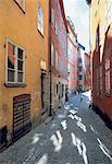 Suède, Stockholm, la rue pavée
