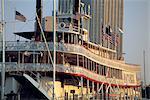 United States, Louisiana, New Orleans, paddleboat on Mississipi River