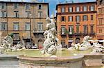 Italy, Rome, Piazza Navona, fountain of Neptune