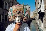Masque de carnaval de Venise, Italie