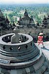 Temple de Borobudur en Indonésie, Java,