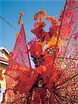 Grenada, carnival and big devil mask