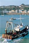 France, Normandy, Granville, fishing boat