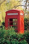 Boîtes de téléphone de l'Angleterre, Londres, Kent, Sandwich,