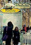 France, Paris, Parc Monceau metro