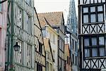 Rue de France, Normandie, dans le vieux Rouen