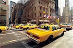 United States, New York, Manhattan, cabs on 5th Avenue