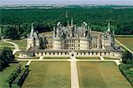 France, vallée de la Loire, le château de Chambord, vue aérienne