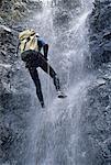 Réunion, Canyoning dans le canyon de Gaubert