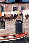 Italie, Venise, façade de maison