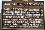 United States, Louisiana, Vacherie, sign on Oak Alley